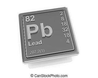 chimique, lead., element.