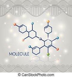 chimique, molécule, structure, icône