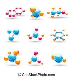 chimique, molécules, 3d