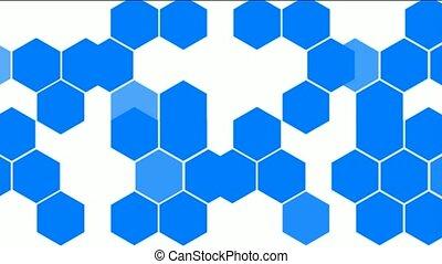 chimique, molecular., hexagone