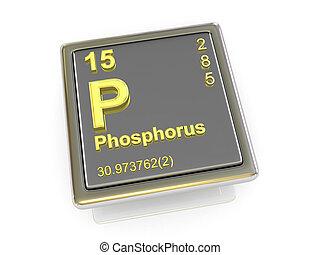 chimique, phosphorus., element.