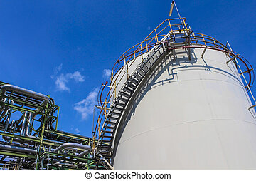 chimique, réservoir, emmagasinage pétrole