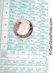 chimique, table, périodique, éléments