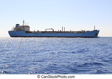 chimique, transport, bateau, mer, voile, pétrolier