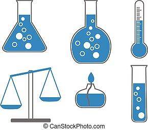chimique, vecteur, icônes, illustration.