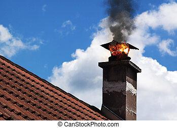 chimmney, fogo