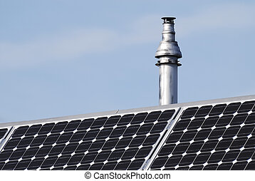 Chimney and photovoltaic cells