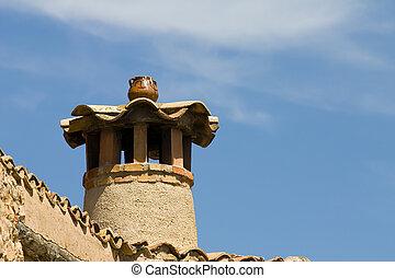 Chimney in Alquezar, Spain