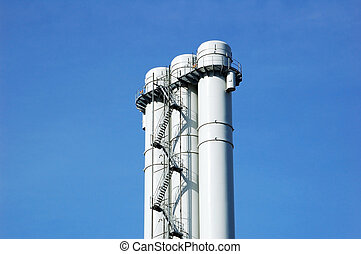 Chimney in an industrial area