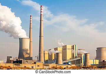 Chimney of power plant