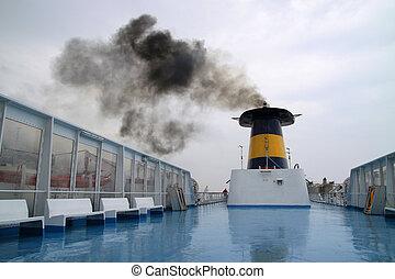 Chimney on a ship