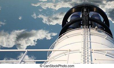 chimney on blue sky
