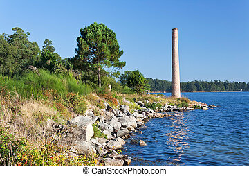 Chimney on the shore