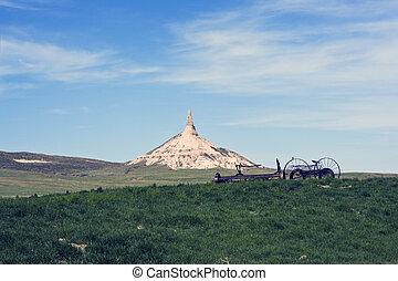 Chimney Rock in Nebraska  - Chimney Rock in Nebraska, USA.