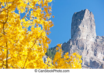 Chimney Rock National Monument in Colorado, USA