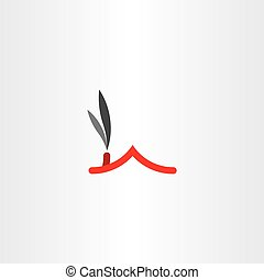 chimney smoke house roof icon vector logo