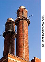 Chimney-stalk against blue sky