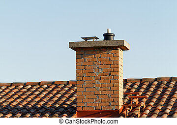 Chimney - Photo of the chimney on the house roof