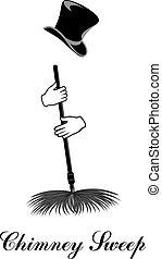 Chimney sweep. Vector illustration