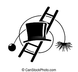 chimney sweeper symbols - different equipment used by a...