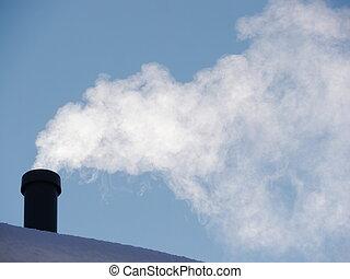 chimney winter snow