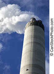 chimney with blue sky