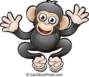 Chimp Safari Animals Cartoon Character