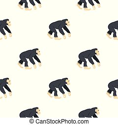 Chimpanzee, pattern seamless
