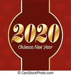 chinês, 2020, ano novo
