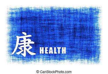 chinês, arte, -, saúde