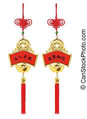 chinês, auspicious, ornamentos