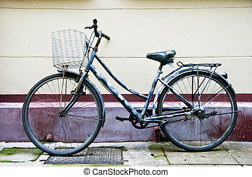 chinês, bicicleta