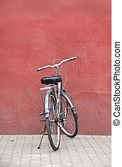 chinês, bicicleta, beijing