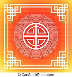 chinês, coloridos, abstratos, ornamento, tradicional, fundo, bandeira