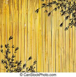 chinês, feito à mão, árvores, papel, desenho, textura, bambu