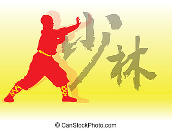 chinês, kung-fu.