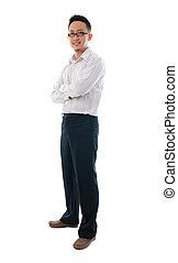 chinês, negócio, isolado, pessoa, asiático, fundo, macho ...