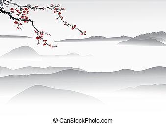 chinês, quadro