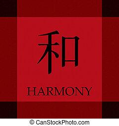 chinês, símbolo, de, harmonia