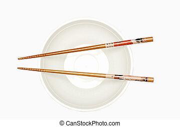 chinês, varas