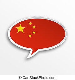 China 3d speech Bubble