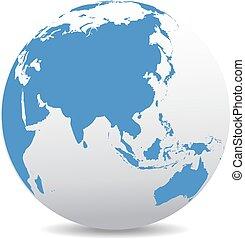 China and Asia, Global World - World Globe