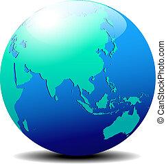 China and Asia, Globe World