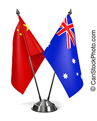 China and Australia - Miniature Flags. - China and Australia...