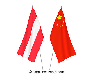 China and Austria flags