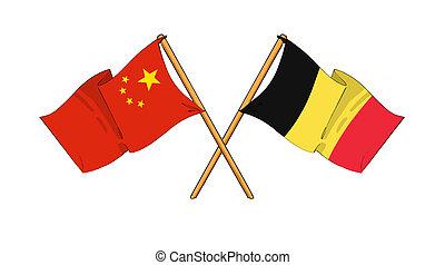 China and Belgium alliance and friendship