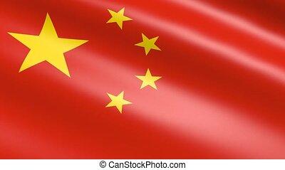china, animatie, republiek, vlag
