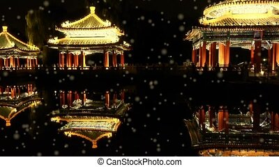 China Beijing ancient Chinese architecture pavilions...