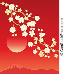 china blossom background