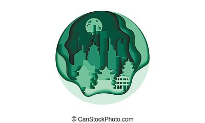 China circle icon flat style architecture buildings monuments town city country travel printed materials